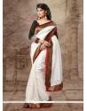 Off White Silk Stone Designer Saree