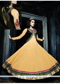 Elegant Yellow Georgette Anarkali Suit