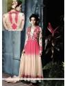 Pink And Cream Net Designer Anarkali Suit