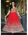 Celestial Red Net Designer Anarkali Suit