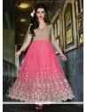 Modish Pink Net Designer Anarkali Salwar Suit