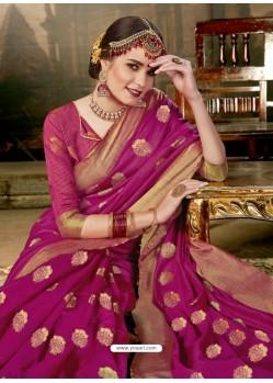 4dabc993dfc8f Buy Medium Violet Art Silk Designer Saree