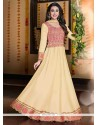 Karishma Kapoor Cream Georgette Anarkali Suit