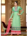 Celestial Green Brasso Palazzo Suit
