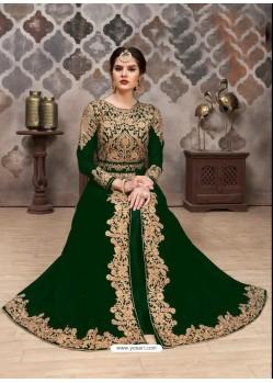 Dark Green Georgette Designer Anarkali Suit