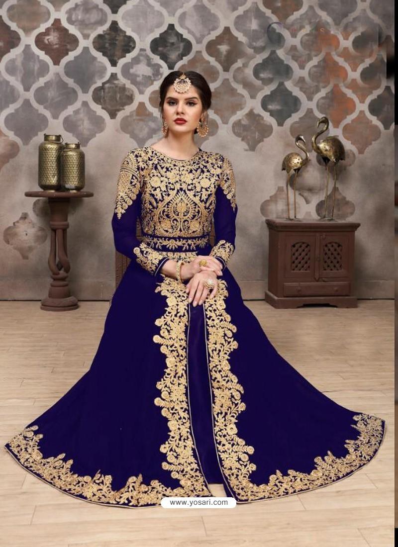 Royal Blue Georgette Designer Anarkali Suit