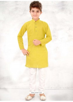 Lemon Cotton Kurta Pajama