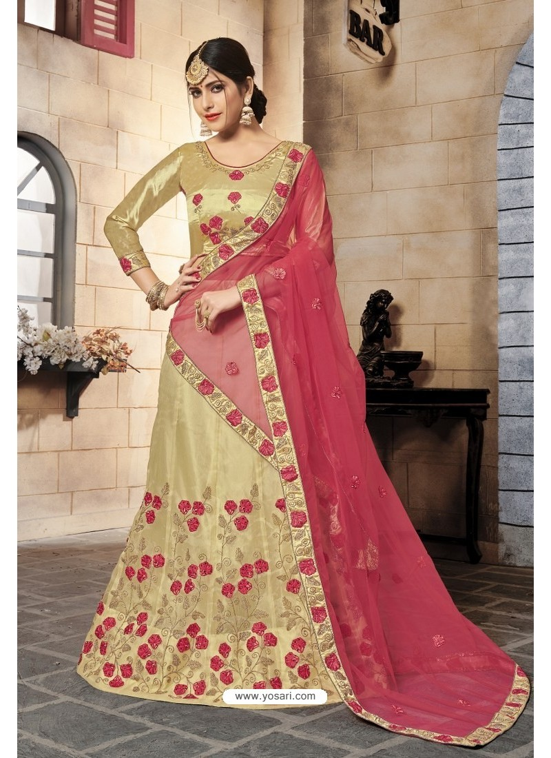 d0ea1cd69e Buy Golden Satin Silk Embroidered Designer Lehenga Choli | Designer ...