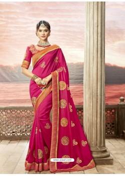 Rani Rangoli Silk Stone Worked Party Wear Saree