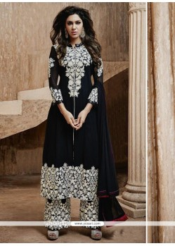 Black Resham Work Designer Salwar Suit