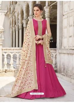 Rani Georgette Designer Party Wear Gown