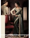 Amazing Black Viscose Designer Saree