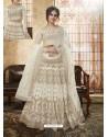 White Net Heavy Embroidered Designer Lehanga Choli