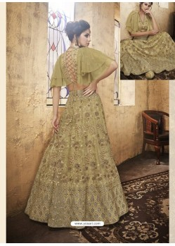 Gold Net Heavy Embroidered Designer Lehanga Choli