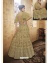 Gold Net Heavy Embroidered Designer Lehanga Choli