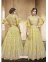 Yellow Net Heavy Embroidered Designer Lehanga Choli