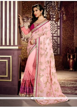 Awesome Pink Weight Less Designer Saree