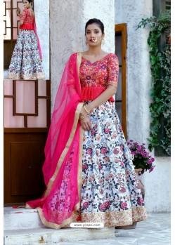 Multi Coloured Silk Sequins Embroidered Designer Lehenga Choli