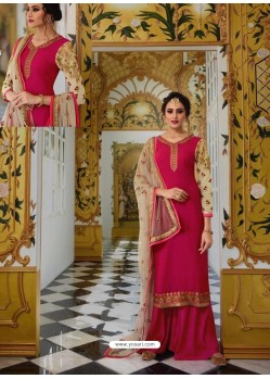 Rani Georgette Embroidered Palazzo Suit