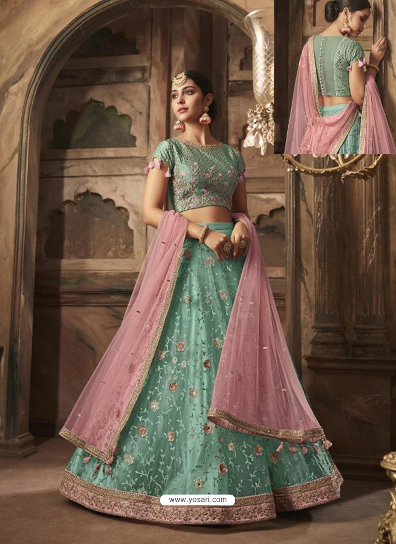 21872f59bcbddb Buy Sky Blue Silk And Net Embroidered Designer Lehenga Choli ...