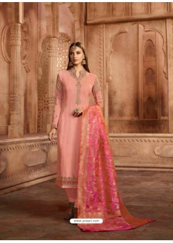 Pink Georgette Designer Churidar Suit