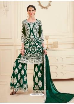 Dark Green Georgette Designer Sarara Suit