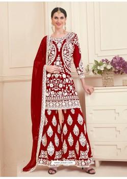 Maroon Georgette Designer Sarara Suit
