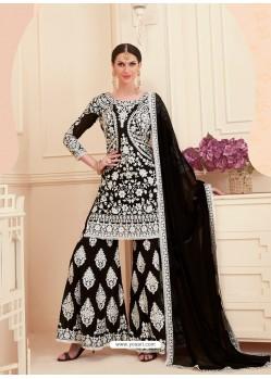 Black Georgette Designer Sarara Suit