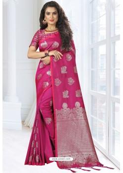 Rani Silk Designer Saree
