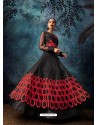 Black Organza Embroidered Designer Anarkali Suit