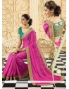Latest Pink Chiffon Party Wear Saree