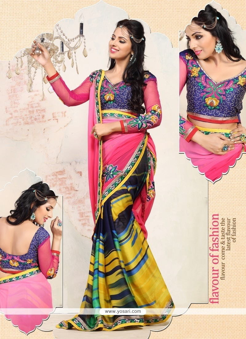 Alluring Multicolor Weight Less Casual Saree