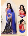 Stellar Blue Weight Less Casual Saree