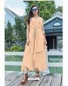 Light Orange Premium Cotton Readymade Gown