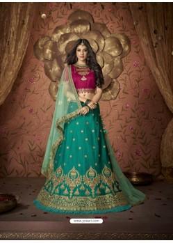 Glamorous Green Silk Embroidery Designer Lehenga Choli