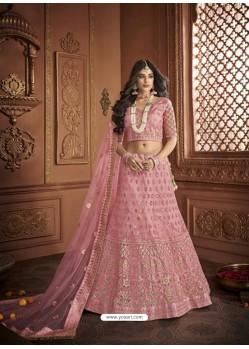 Dashing Pink Silk Embroidery Designer Lehenga Choli