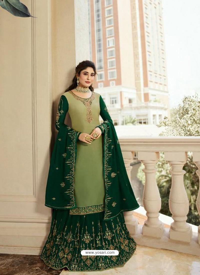 265efcc409 Ravishing Light Green Georgette Embroidery Designer Party Wear Salwar Suits