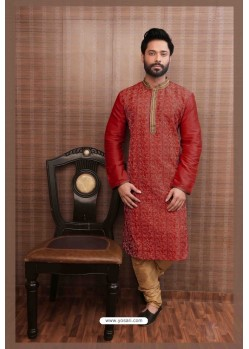 Awesome Red Kurta pajama For Men