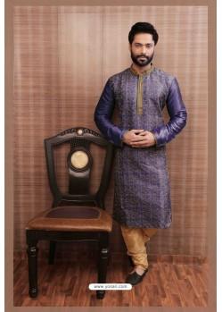 Classy Purple Kurta pajama For Men