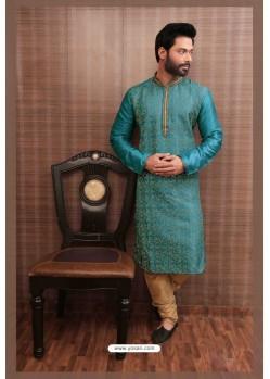 Trendy Sky Blue Kurta pajama For Men