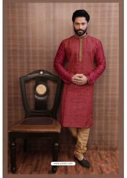 Fabulous Maroon Kurta pajama For Men