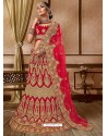 Fabulous Red Velvet Embroidery Designer Lehenga Choli