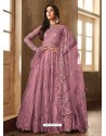 Hot Pink Net Embroidered Designer Anarkali Suits