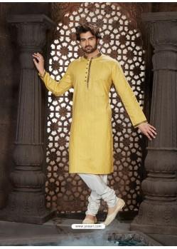 Classy Beige Cotton Kurta Pajama For Men