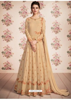 Awesome Beige Anarkali Designer Suit