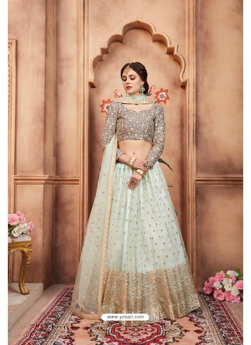 c0d5ec9121 Buy Fabulous Sky Blue Heavy Embroidered Party Wear Lehenga Choli ...