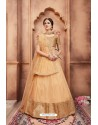 Beige Colored Heavy Embroidered Party Wear Lehenga Choli