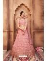 Baby Pink Fabulous Maroon Heavy Embroidered Party Wear Lehenga Choli