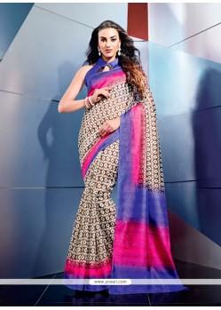 Miraculous Multicolor Art Silk Casual Saree