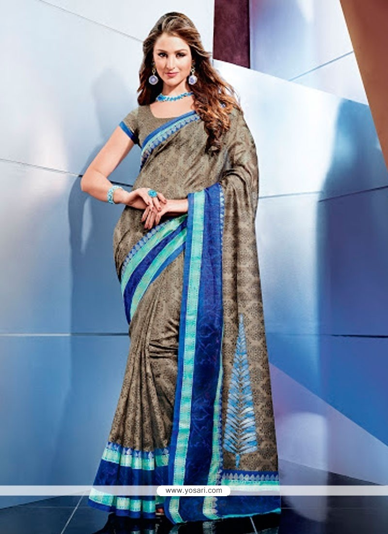 Classy Brown Color Art Silk Casual Saree